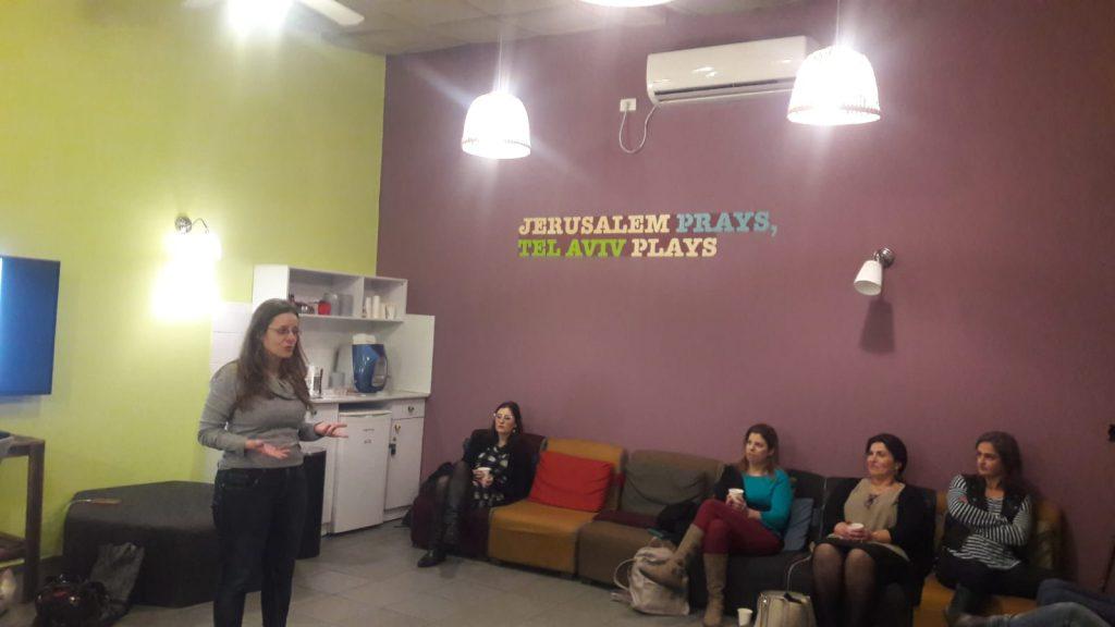 טובה קראוזה מרצה בסדנה למקצועות הבריאות בתל אביב 11 בינואר 2019