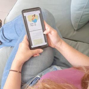 כך נראה הספר הדיגיטלי. פשוט לקרוא בנייד.